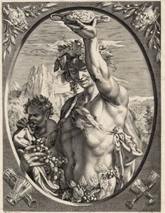 Hendrick Goltzius after, JB.H.Baptiste, 1789 - Bachus