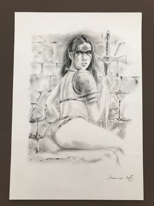 Mounier, Alain - Original drawing - Sexy guerrière - (2015)