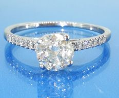 Diamond ring with brilliant cut diamonds of 0.85 ct in total - *** No Reserve Price ***