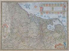 The Netherlands, Belgium, Luxembourg; Johannes Baptista B. Vrients-Inferioris Germaniae Provinciarum Nova Descriptio-1612