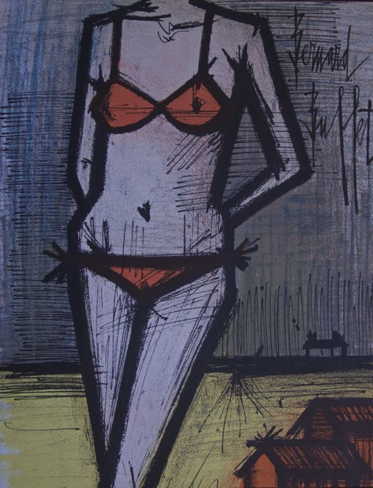Bernard buffet le bikini catawiki for Bernard buffet vente