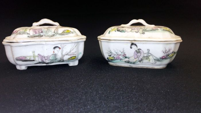 2 boxes with lids - China - Republic period (1912-1949)