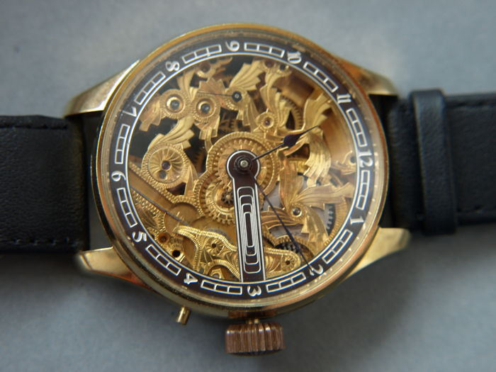 15 Longines - skeleton wristwatch - Heren - 1850-1900