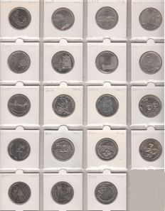Portugal - 2.5 Euro (collection of 19 different coins), 2008–2014