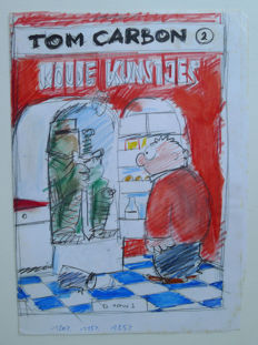 Cromheecke, Luc - Original cover sketch in colour - Tom Carbon 2