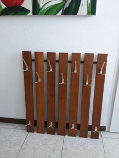 Producer unknown - modern mid-century solid wooden wall coat rack