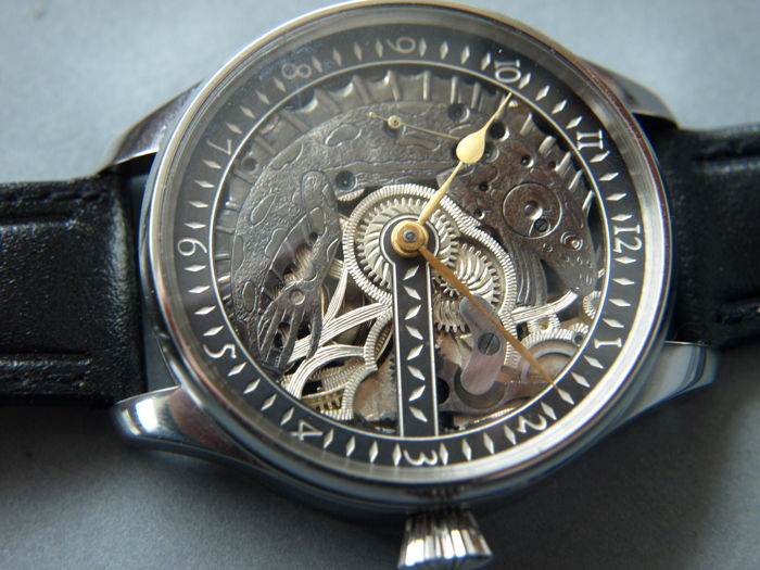 08 Omega - skeleton wristwatch - 4248559 - Heren - 1901-1949