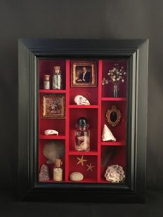 Unique Mini Cabinet of curiosities - 18 x 23 cm