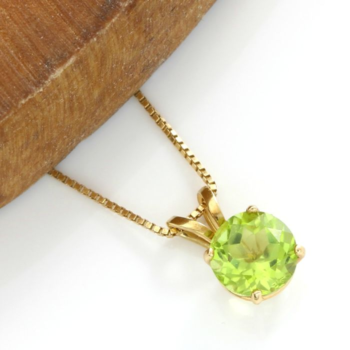 No reserve price 14kt yellow gold 150 ct peridot pendant no reserve price 14kt yellow gold 150 ct peridot pendant necklace 45 aloadofball Gallery