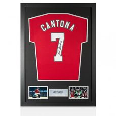 Eric Cantona - Signed and Deluxe Framed Manchester United shirt + COA and Photoproof!