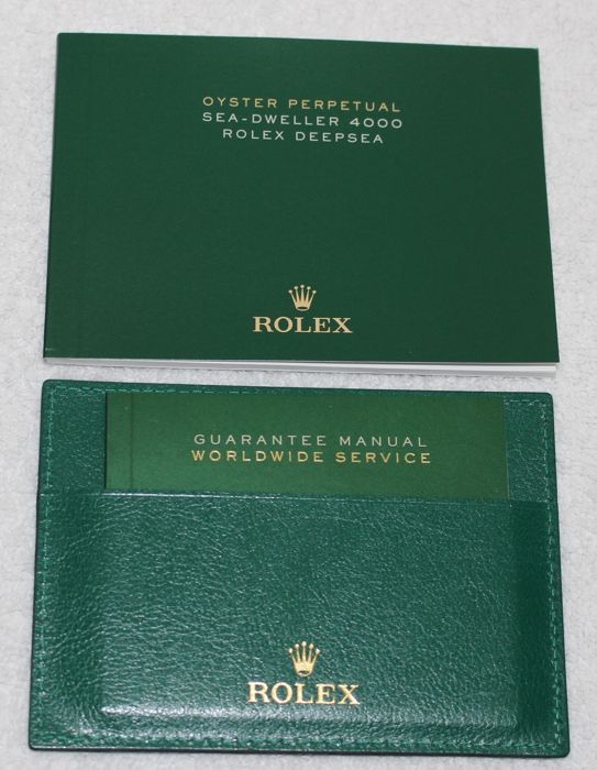 Rolex -  New Sea-Dweller Deepsea Booklets and Credit Card  - 4119209.05 - Heren - 2011-heden