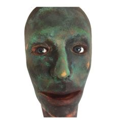 "Curious ""Halloween prop"" realistic head with glass eyes - 1960s / 1970s"