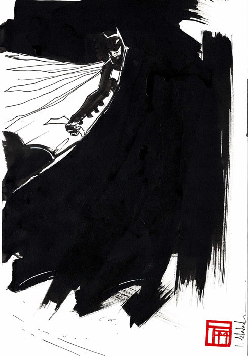 Original Drawing - BATMAN By Alabado, Ismael