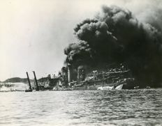 "Unknown/International News Photos - The ""Day of infamy"" Pearl Harbor Japanese attack, 1941"