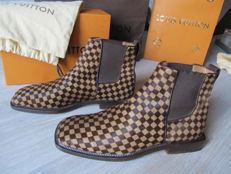 Louis Vuitton - Damier Logo Ankle Boots
