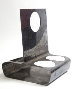 Lino Sabattini for Argenteria Sabattini - Bottle holder in silver-plated metal