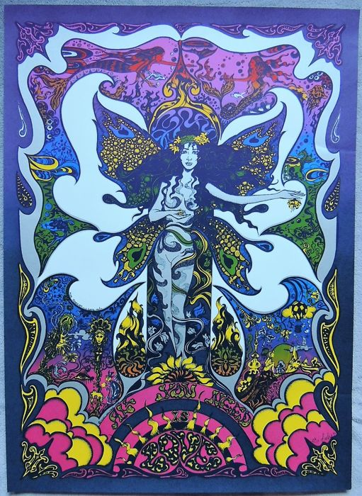 Beatles All you need is Love  Psychedelic Poster