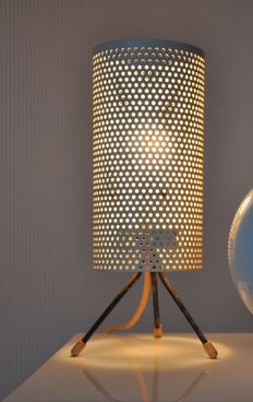 Designer and producer unknown - Perforated vintage metal lamp