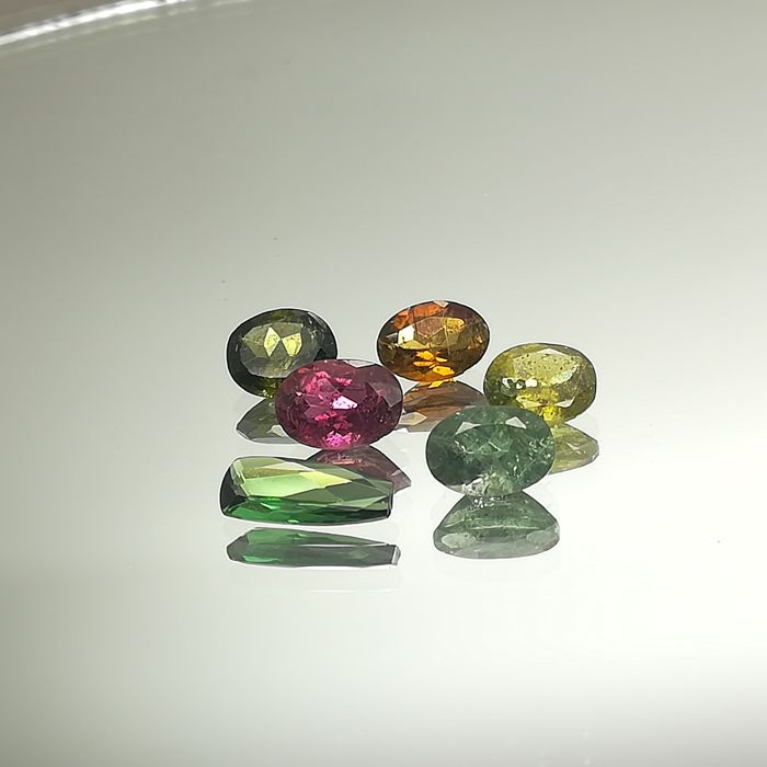 Lot of 6 Tourmalines - 4.75 ct