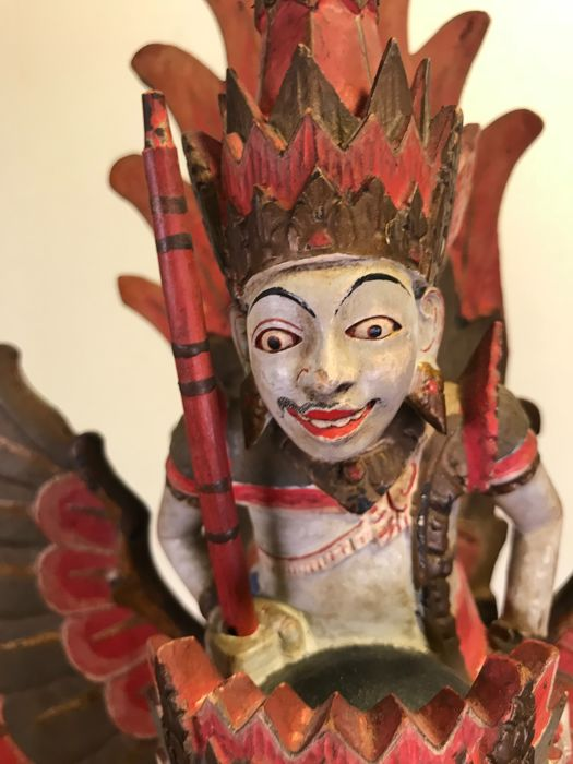 Special coloured wooden Garuda image - Bali - Indonesia - 2nd half 20th century