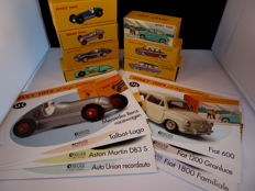 Atlas-Dinky Toys - Scale 1/43 - Lot with 7 models: Talbot, Mercedes-Benz, Fiat, Aston Martin & Auto Union