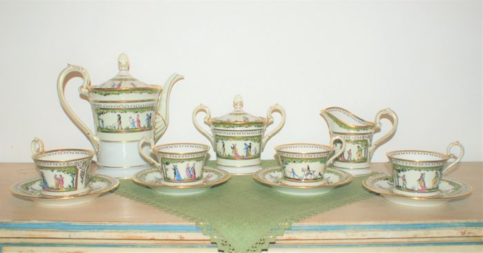 Raynaud Limoges porcelain set - Promenade au Palais Royal