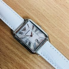 Emporio Armani - White Mother Of Pearl Dial Watch - Dames - 2017
