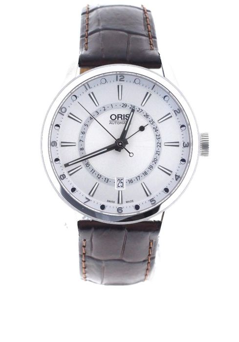 Oris - Artix Pointer Moon Automatic Silver Dial Brown - 01 761 7691 4051 - Unisex - 2018
