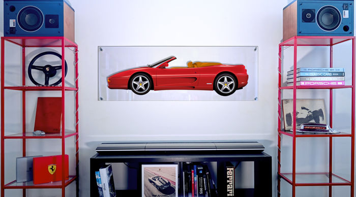 TL - Halmo Collection Ferrari F355 Spider Plexiglass Panel