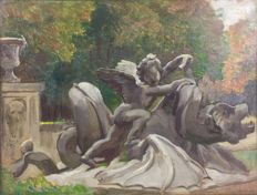 Frederick Samuel Beaumont (1861-1954) - A statue at Versailles