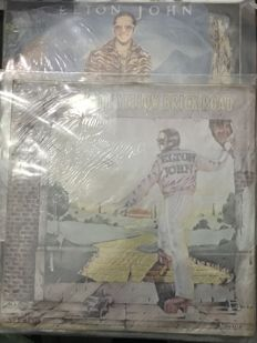 Elton John - Goodbye Yellow Brick Road - double LP, gatefold - rare korean import vinyl.