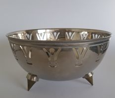 Beautiful large silver plated tray, bowl