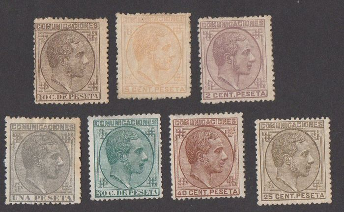 Spain 1878 - Alfonso XII - 190/192, 194/197