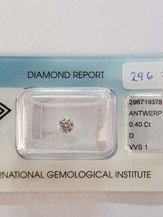 0.40 crt D VVS1 brilliant cut diamond