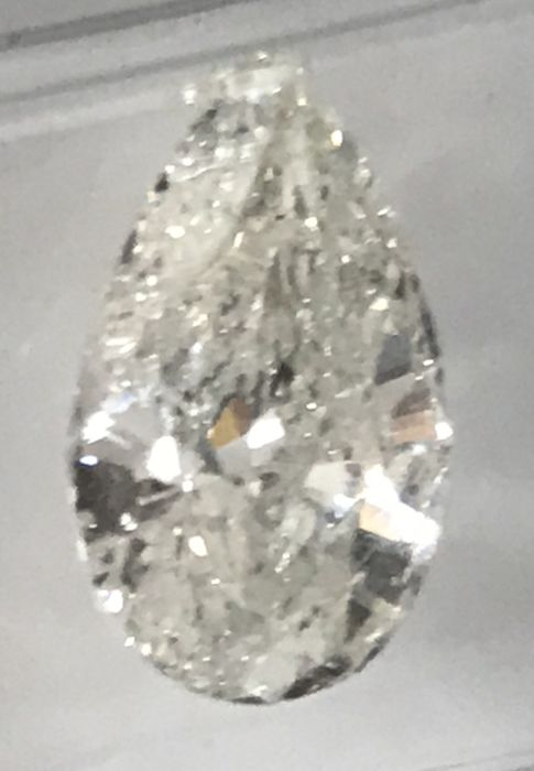 1.82ct Pear Brilliant Natural Diamond I SI1