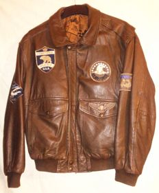 TOP GUN style US Air Forces pilot leather flying  jacket