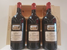 2012 Chateau La Caussade, Graves de Vayres - 3 Doubles Magnums 3 litres in Individual Wooden Box