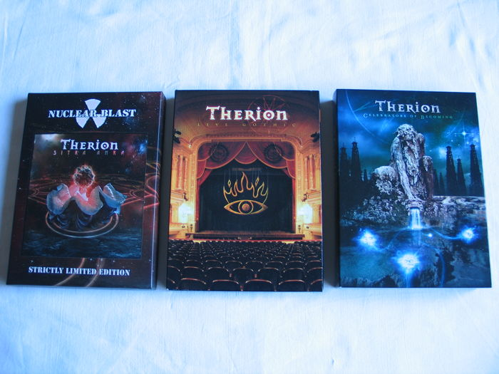Lot of Therion - 5 CD's - 5 DVD.