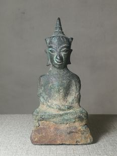 Ayutthaya kingdom bronze Crown Buddha - Siam - 16th-17th century