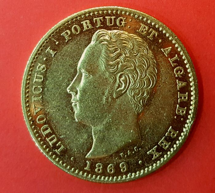 Portugal Monarchy – Luís I ( 1861-1889 ) – 5,000 Réis – 1869 – Gold