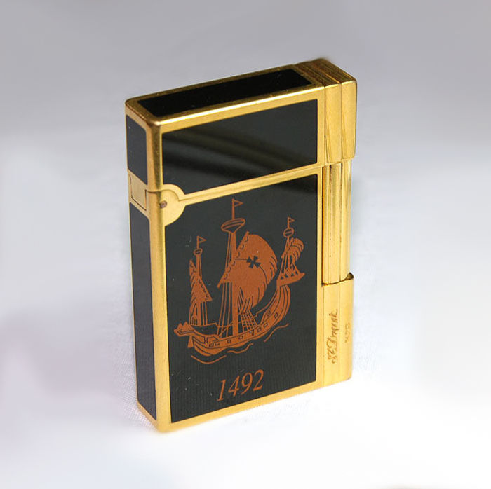 S.T DUPONT lighter 1992, Gatsby COLOMBUS 1492- Limited Edition of 3000 ex
