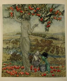 Eden Phillpots & J. Ruskin - The King of the Golden River & A Dish of Apples. Illustrated by Arthur Rackham - 1921/1932