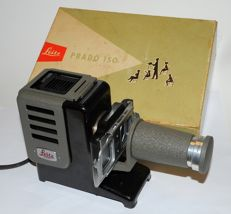 Leitz - Prado 150 slide projector from the 1950s in original box with slide holder