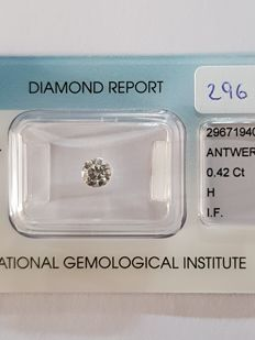 0.42 ct brilliant cut diamond H I.F