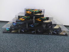 Onyx - Scale 1/43 - Lot with 10 Formula 1 models: Sauber, Benetton, Jordan, Williams, & Pacific