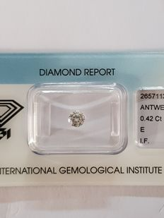 0.42 ct brilliant cut diamond, E I.F