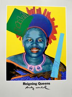 Andy Warhol - Queen Ntombi Twala of Swaziland