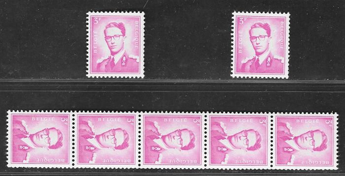"Belgium 1959 - Coil stamps, type ""Marchand"" - OBP R21, R22 and R24"