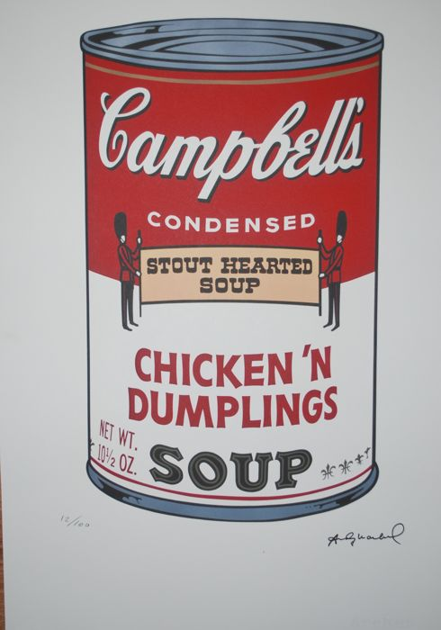 Andy Warhol - Campbell's Soup -1980s