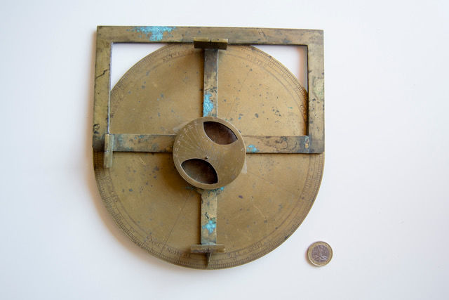 A provincial brass surveying compass - unsigned - Italian - late 16th to early 17th century